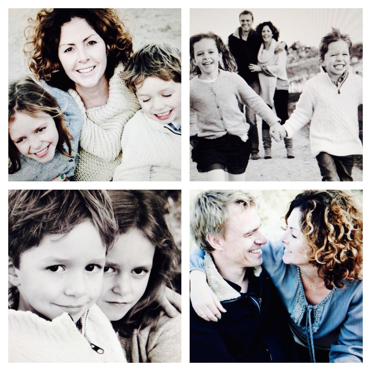 Marleen, Thomas, Lizzy en Olivier