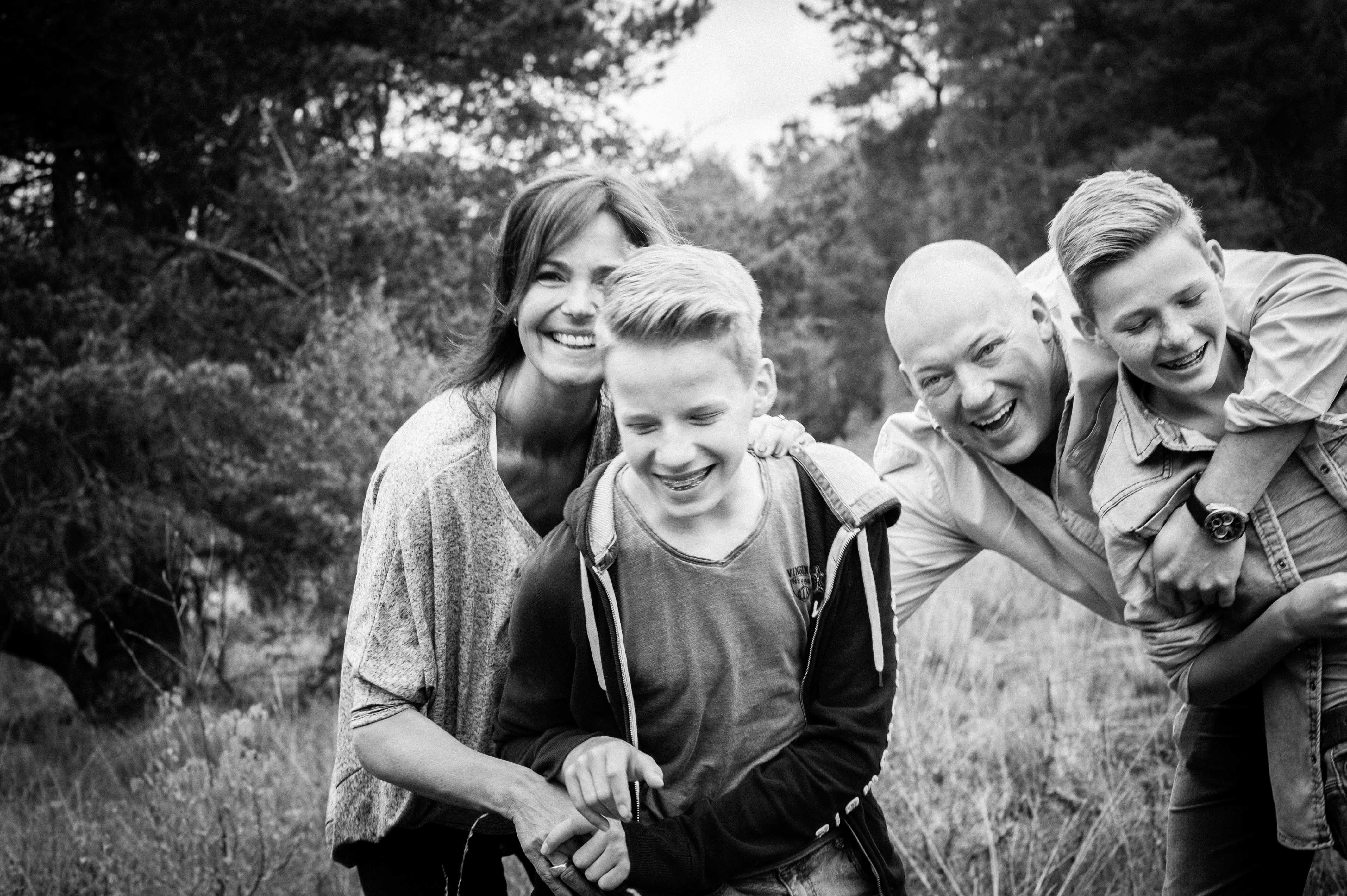 Familieportret | Sas|Hans|Dirk|Kees