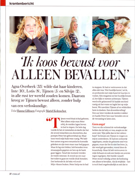 Just Published | VROUW (Telegraaf) Agna