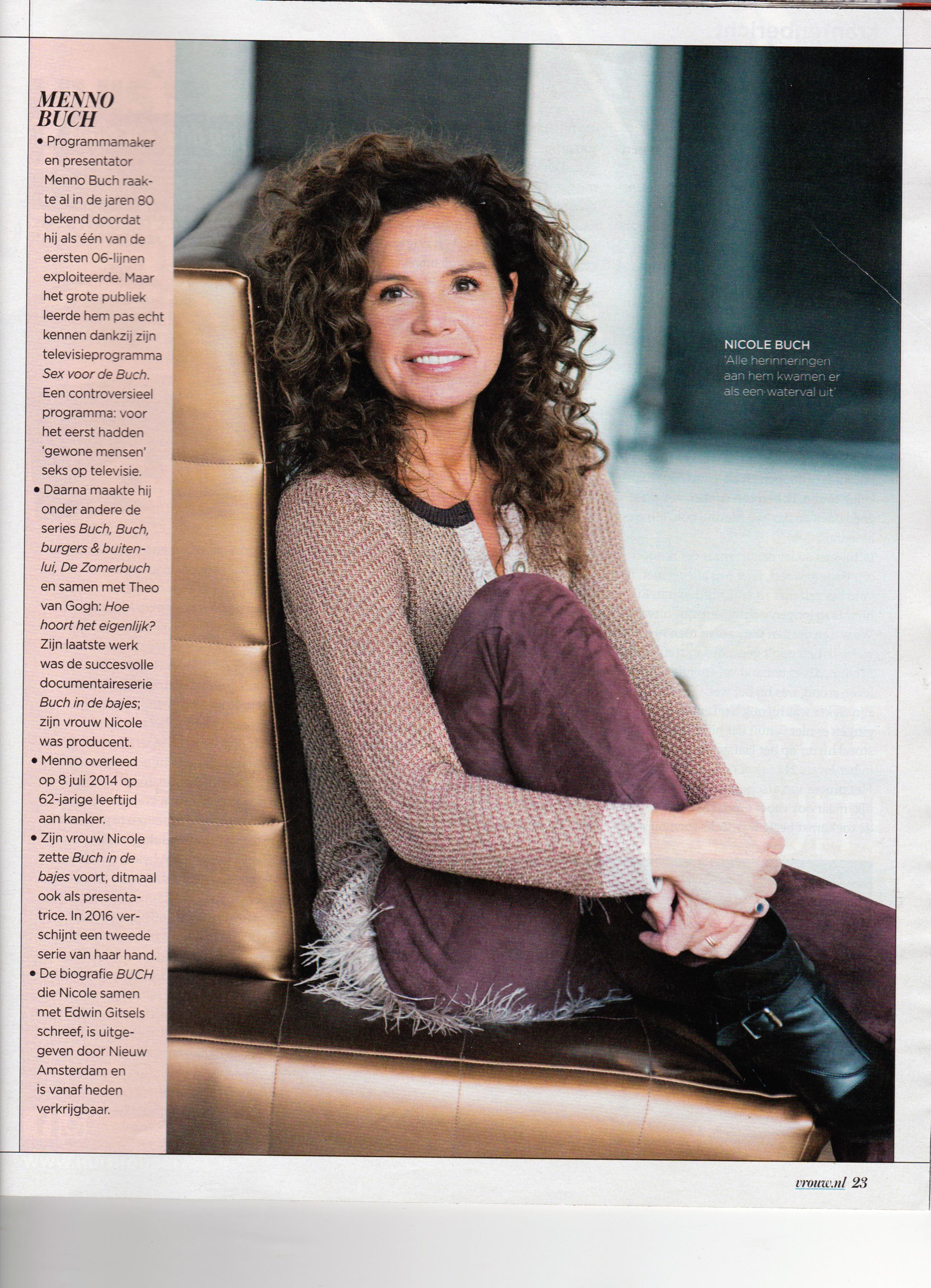 Just Published | Nicole Buch | VROUW (Telegraaf)