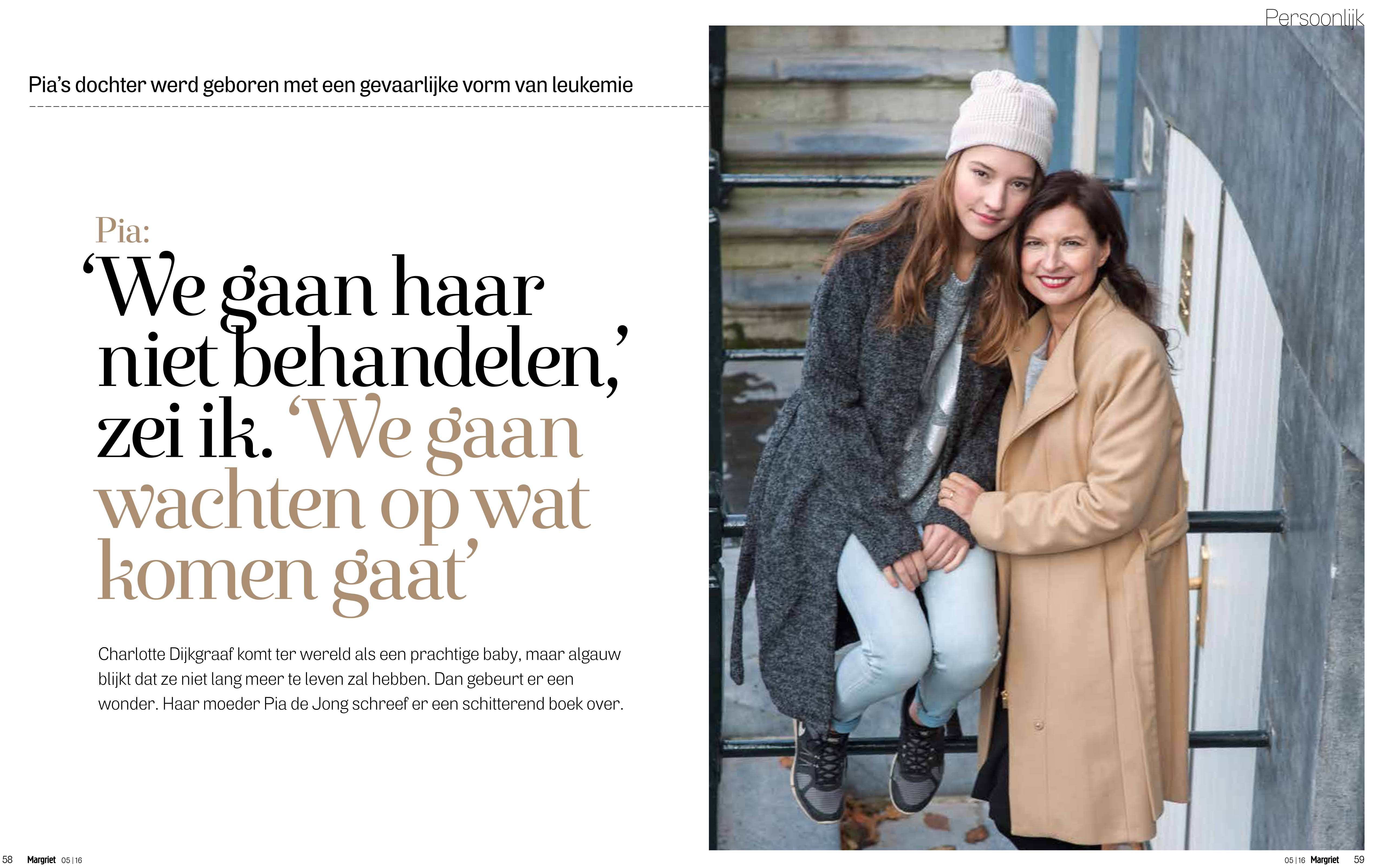 Published | Pia de Jong en haar dochter Charlotte | MARGRIET