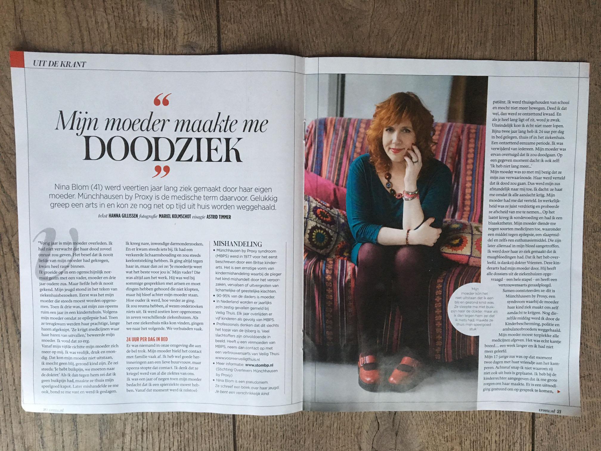 Just Published | Nina Blom | VROUW (Telegraaf)