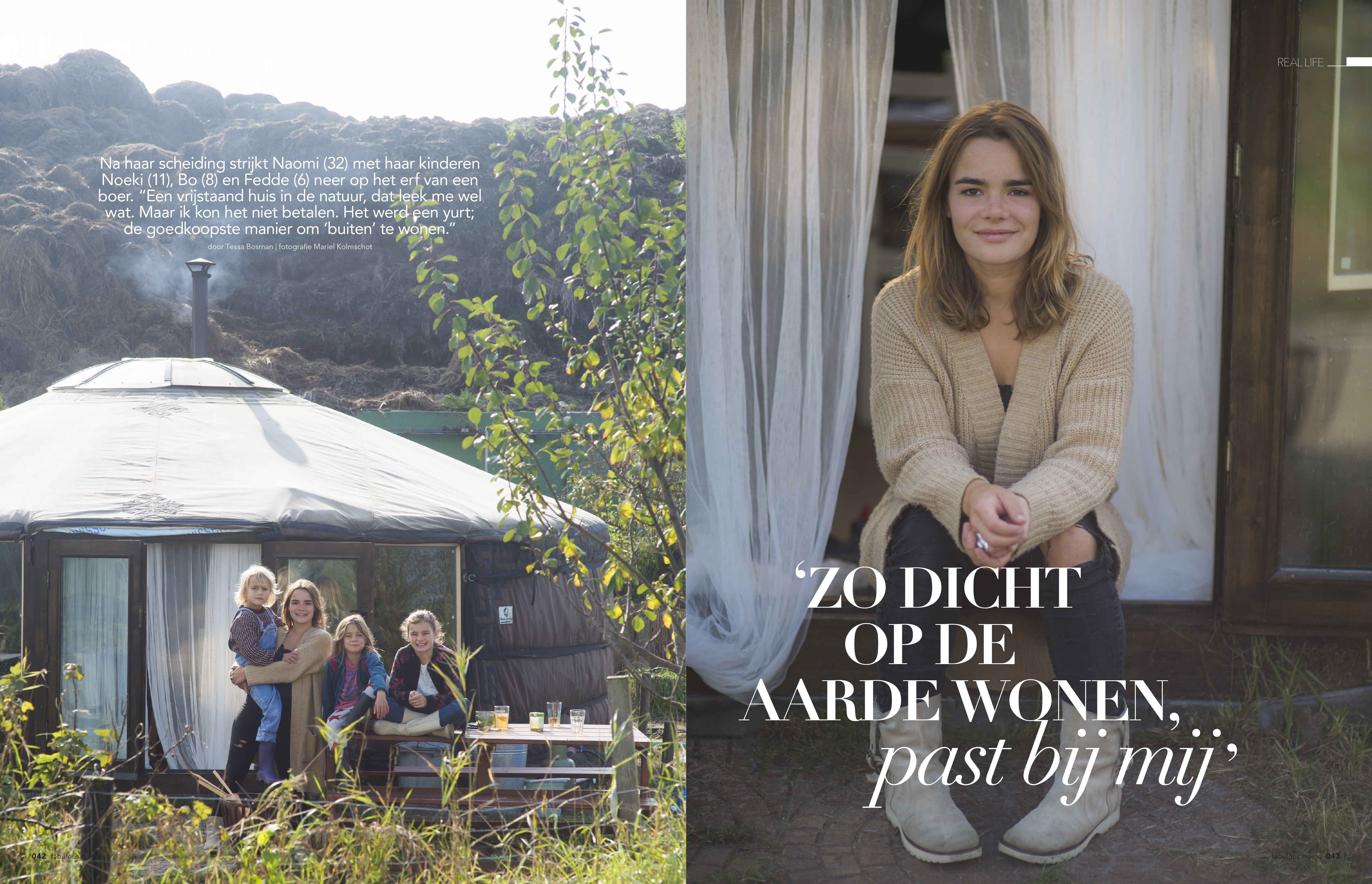 Just Published | Naomi  woont in en yurt | Fabulous Mama & Family |